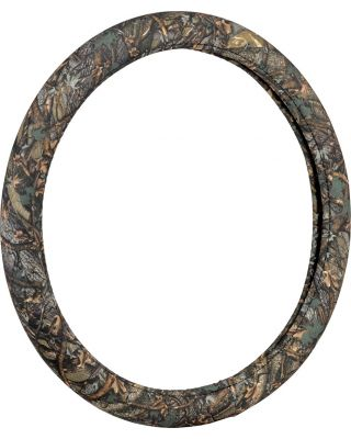 BELL AUTOMOTIVE UNIVERSAL WILD WOOD GREEN CAMO STEERING WHEEL COVER 22-1-97223-9