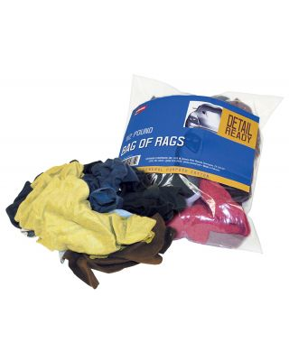 CARRAND 1/2LB BAG OF CLEANING RAGS ASSORTED COLOURS 40071