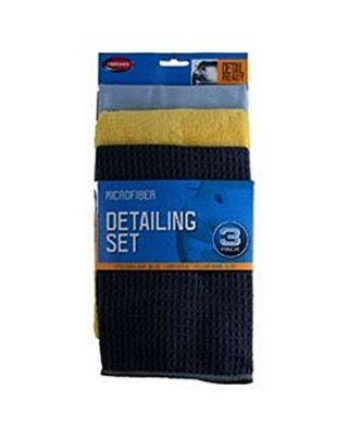 Carrand Pack of 3 Detailing Towels Clean, Dry and Polish 45163