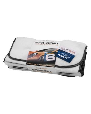 AUTOSPA Spa-Soft Microfiber Pack of 6 Detailing Towels 45625AS
