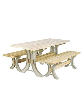 2x4 Basics Any Size Picnic Table and Bench Kit (Sand)