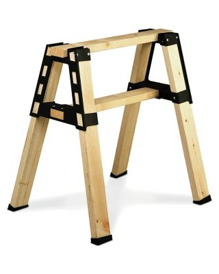 BUILD YOUR OWN 2X4 BASICS ANY SIZE PRO BRACKETS SAWHORSE (BLACK) - 90194MIE