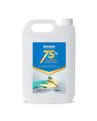 BARRETTINE 75% ALCOHOL SURFACE CLEANER 5 LITRE REFILL BOTTLE - ETSC005