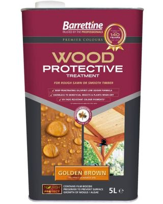 BARRETTINE NOURISH AND PROTECT PROTECTIVE TREATMENT GOLDEN BROWN 5 LITRE TIN