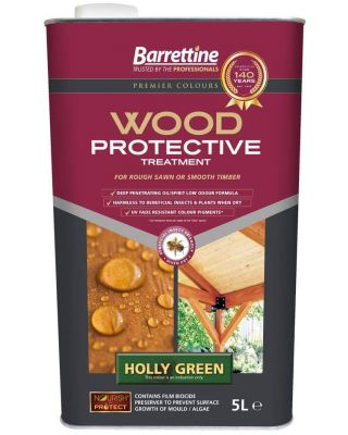 BARRETTINE NOURISH AND PROTECT PROTECTIVE TREATMENT HOLLY GREEN 5 LITRE TIN
