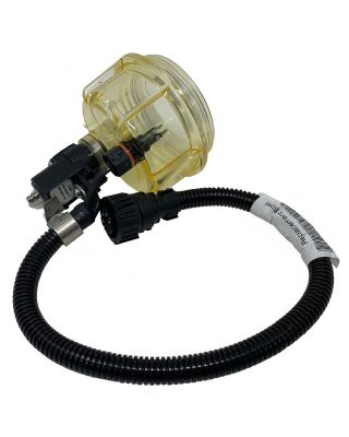 PARKER RACOR 24V SOLENOID FUEL FILTER BOWL ASSEMBLY WITH WIF WATER SENSOR DRK00456