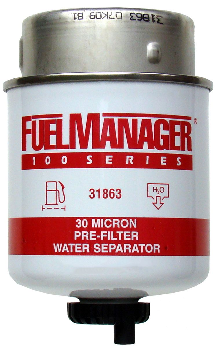 """Fuel Manager 31863 Replacement Element 30 Micron 3.6/"""""""