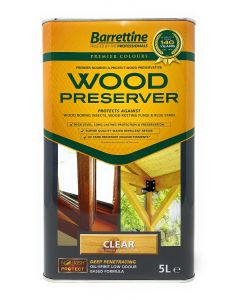 BARRETTINE NOURISH AND PROTECT CLEAR WOOD PRESERVER 5 LITRE TIN
